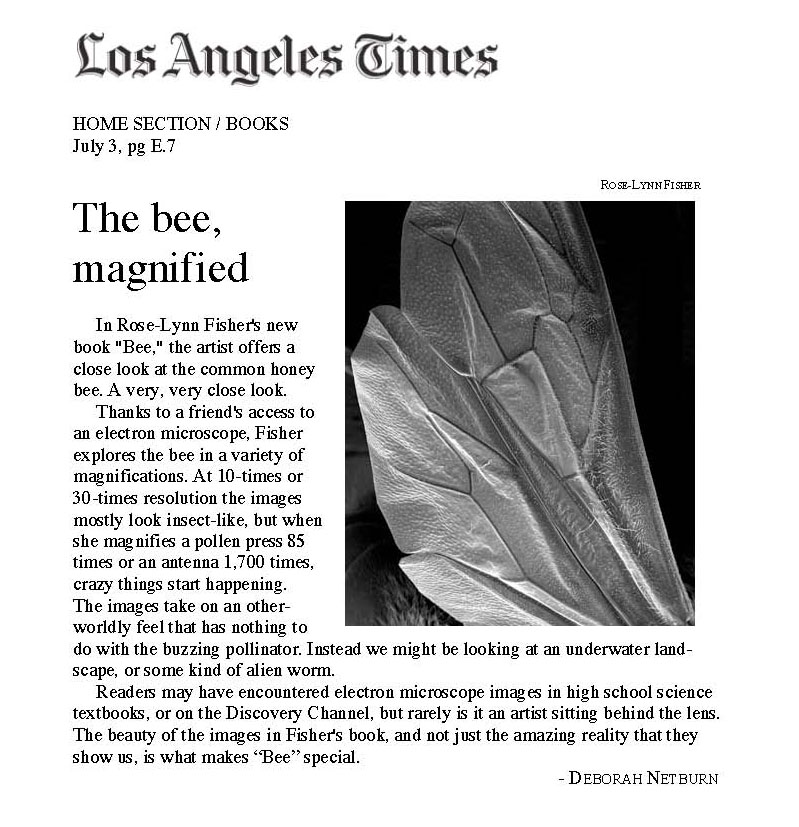 fisher latimes BEE